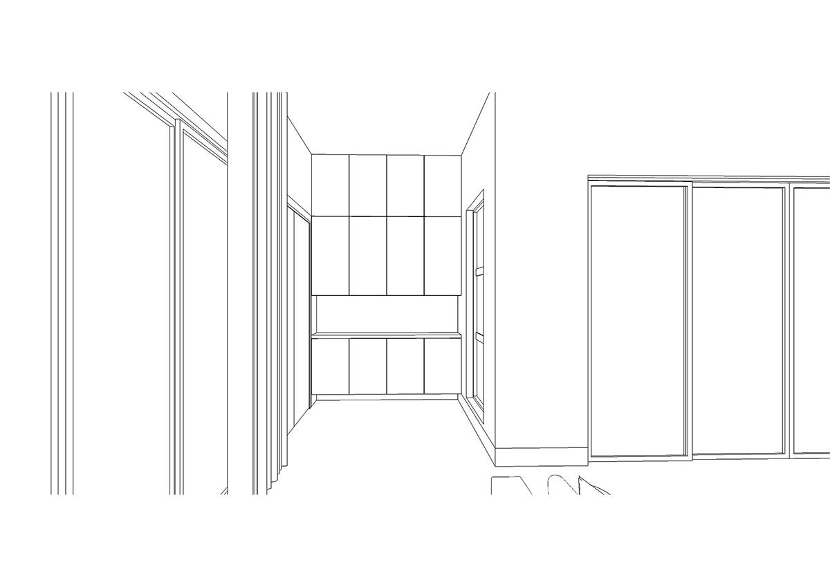 初期に描いたエントランスホールの3Dスケッチ