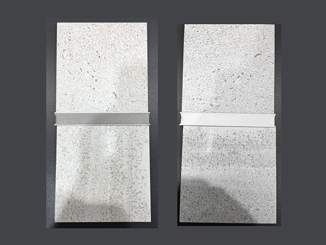 目地材ホワイトとライトグレーの色比較