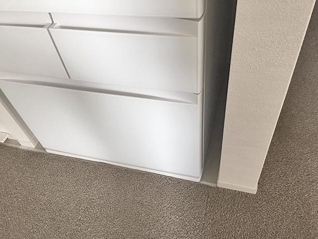 壁から6センチの隙間を開けた冷蔵庫