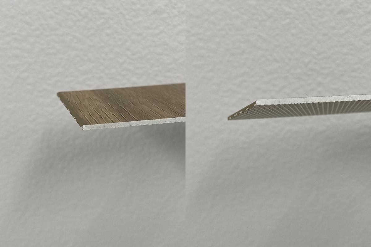 euca1.5mmうわばりフローリングの断面